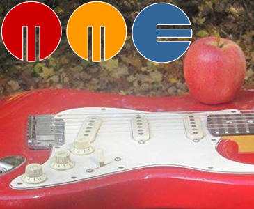MME logo guitar apple
